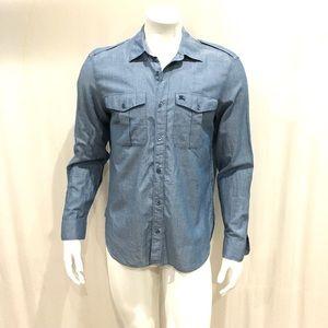 Burberry Brit Mens Blue Button Shirt